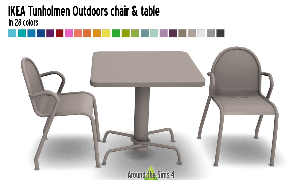 Around The Sims 4 | Custom Content Download | Ikea Tunholmen ... destiné Tables De Jardin Ikea
