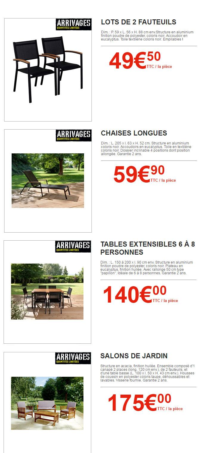 Arrivages Brico Dépôt : Les Incroyables Affaires ! ⋆ tout Table De Jardin Brico