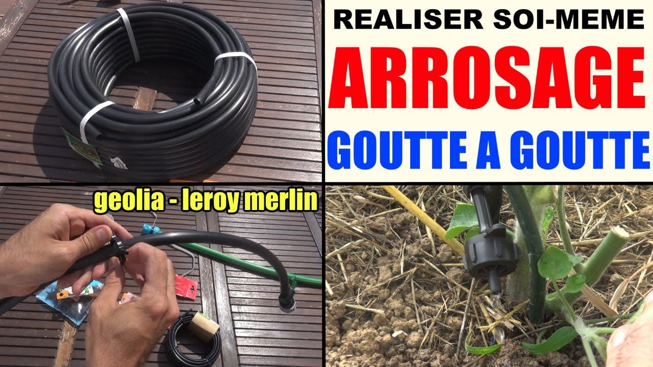 Arrosage Goutte À Goutte En Kit (À Composer Soi-Même !) Leroy Merlin Geolia  Gardena encequiconcerne Arrosage Goutte A Goutte Jardin