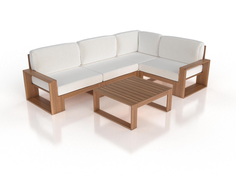 Artelia   Jetzt Holz Lounge Set Mauritio Kaufen   Diy Sofa ... intérieur Salon De Jardin Artelia