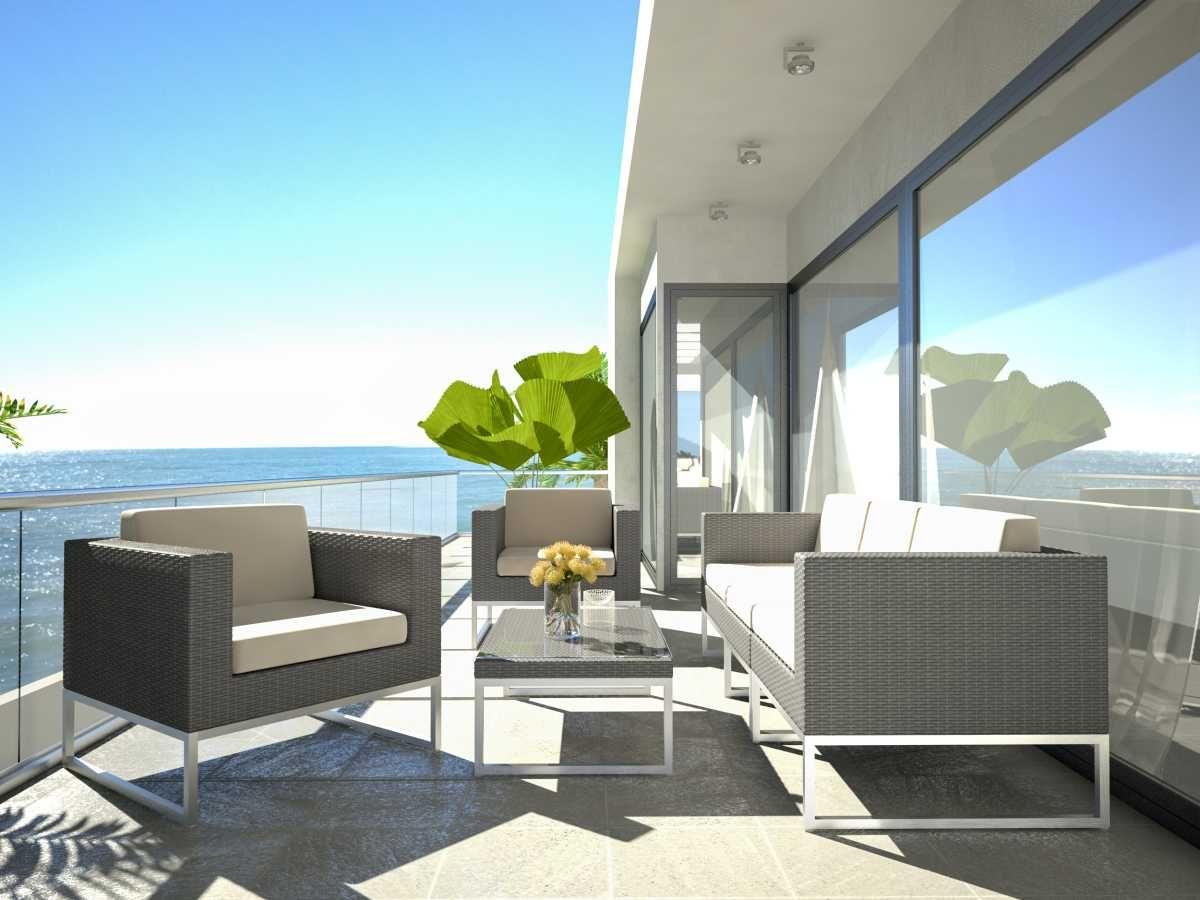 Artelia   Rattan Lounge Set With An Aluminum Frame Alivera M ... destiné Salon De Jardin Artelia