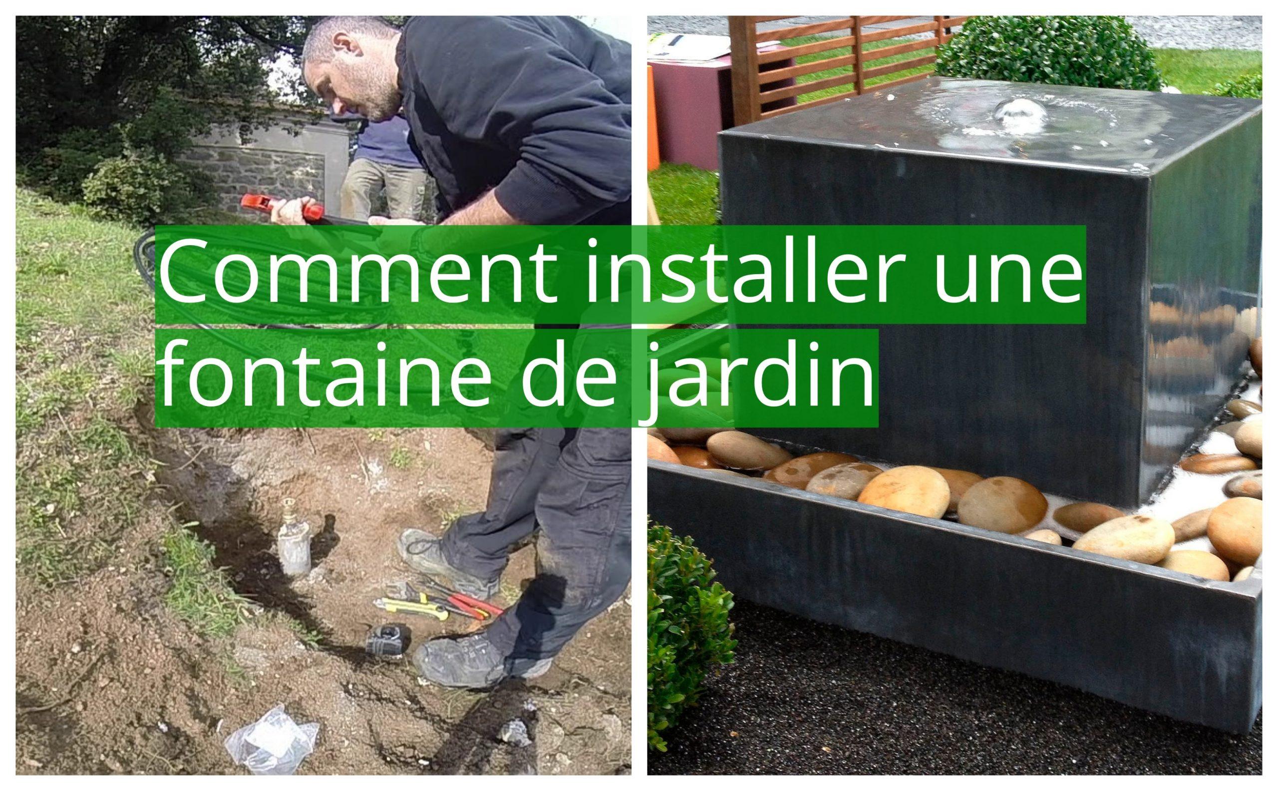 Articles Pour Jardin Et Terrasse Articles Pour Étang ... intérieur Installation Fontaine De Jardin