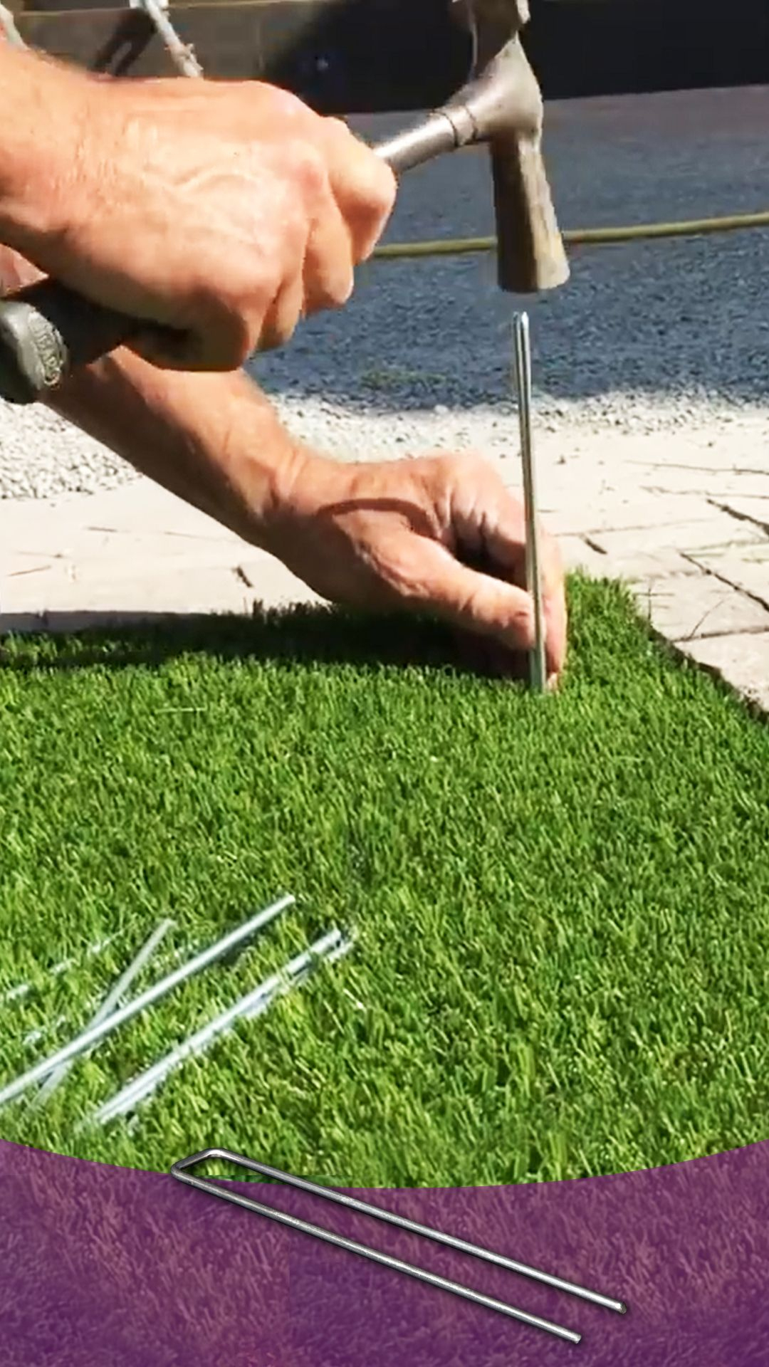 Artificial Grass Pins Are Used For Pinning Artificial Grass ... concernant Geotextile Jardin