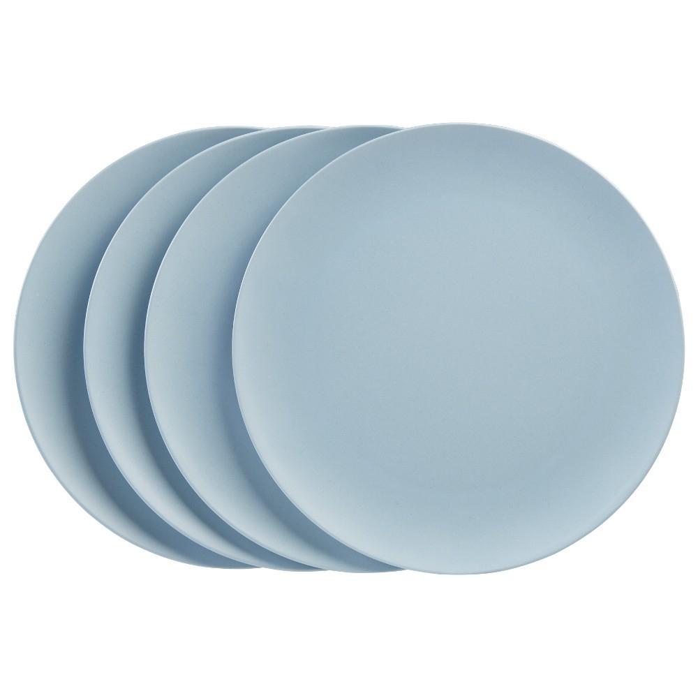 Assiette Plate Bleu En Bambou X 4 destiné Abri Jardin Bambou