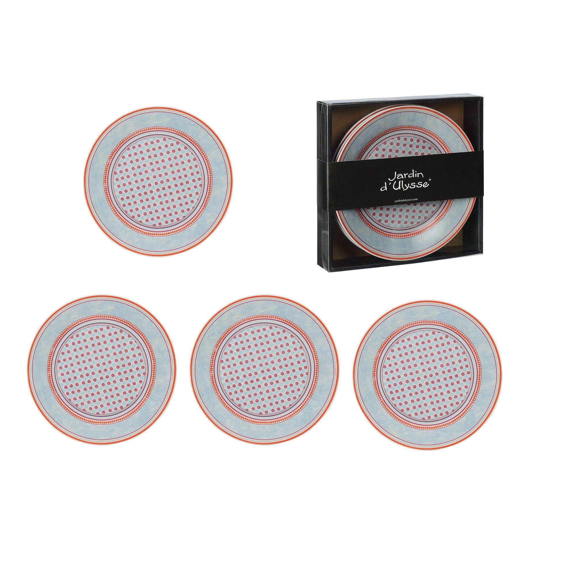 Assiette Plate En Porcelaine Multicolore D.22.8Cm Coffret De ... concernant Assiette Jardin D Ulysse