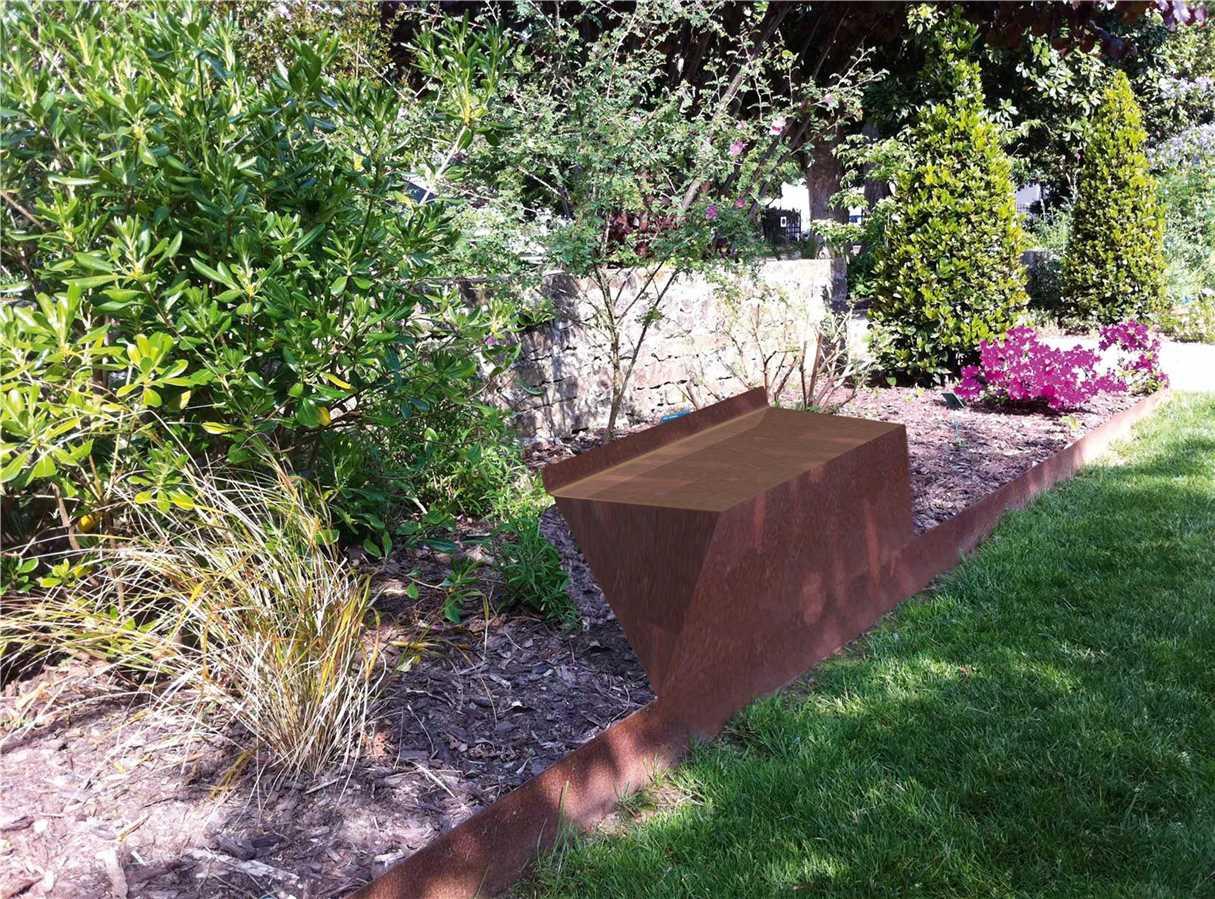 Assise | Bordure Jardin Avec Assise | - Atech à Bordure Jardin Acier Corten