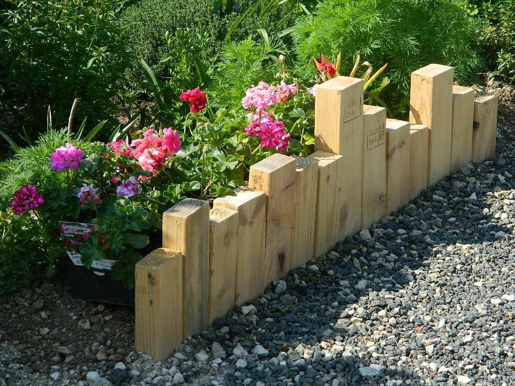 Au Jardin - La Boite A Palette tout Bordure Bois Pour Jardin