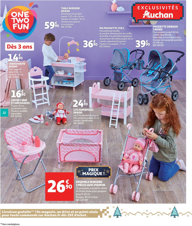 Auchan Catalogue De Noël 2019 Catalogue Actuel 18.10 - 15.12 ... à Chaise De Jardin Auchan