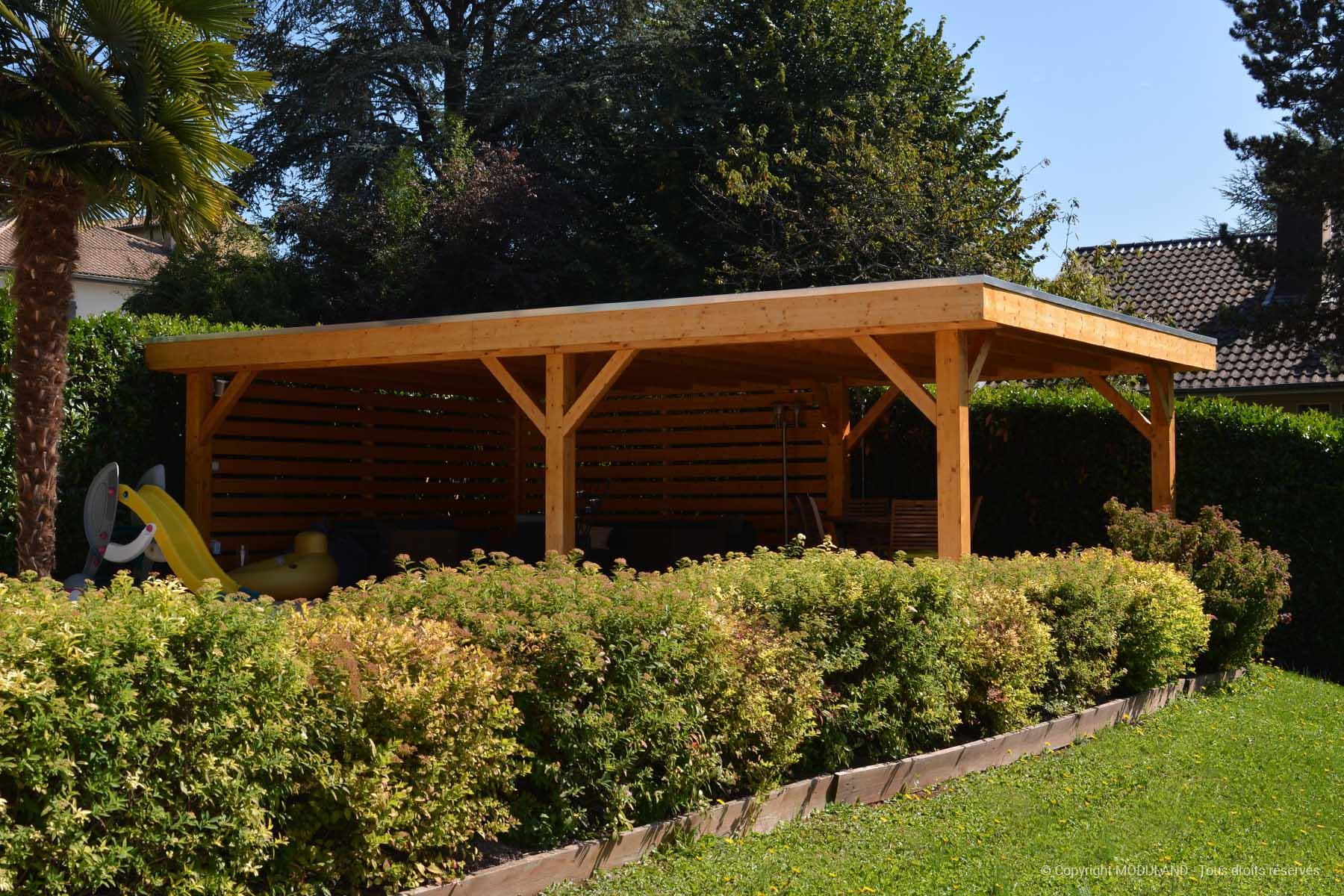 Auvent Toit Plat Vannes | Moduland intérieur Abri De Jardin Vannes