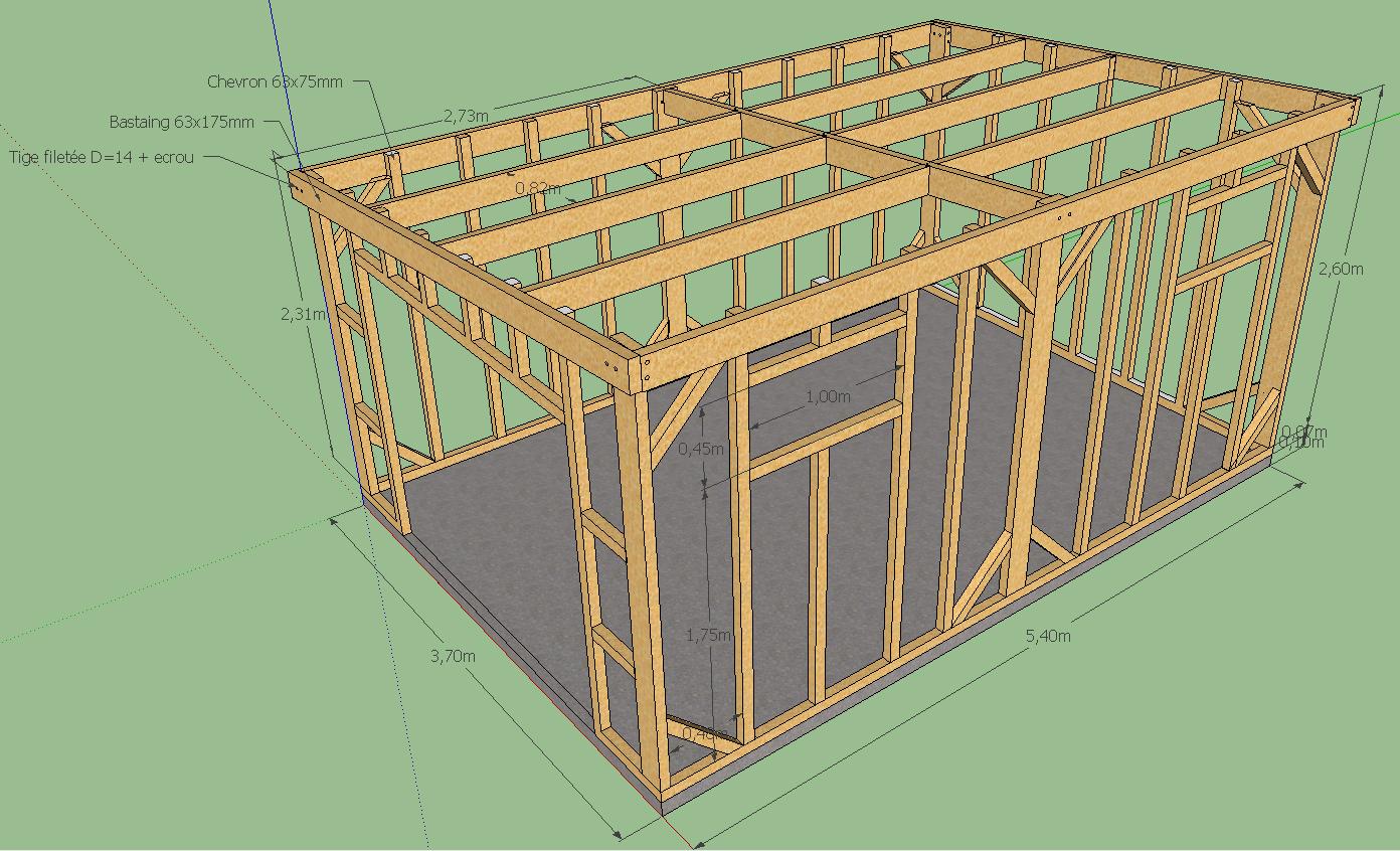 Avis Sur Plan Ossature Abris De Jardin 20M² - 20 Messages avec Construire Un Abri De Jardin En Bois Soi Meme