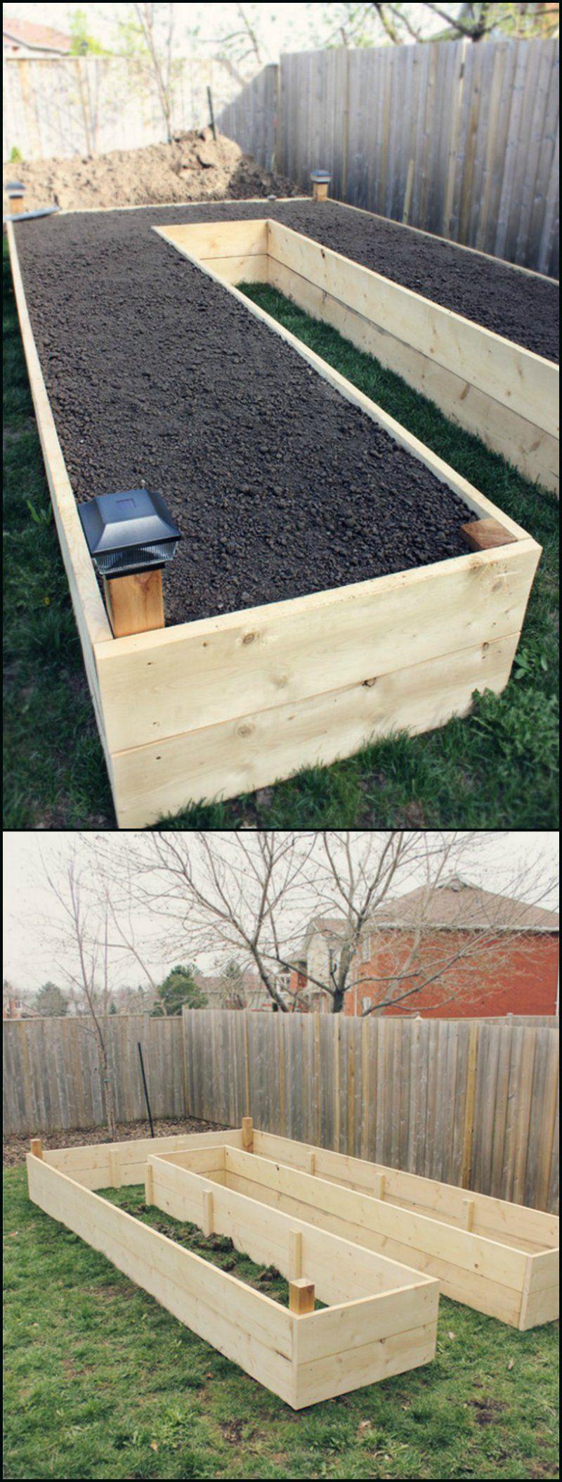 Bac À Semis. À Hauteur   Jardin Surélevé, Jardins Et Carré ... avec Fabriquer Un Jardin En Hauteur
