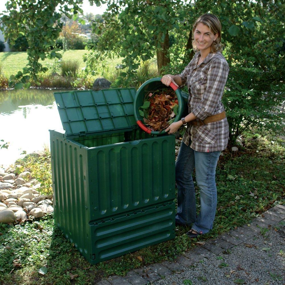 Bacs À Compost De Jardin Composteur Bio 400L Bacs À Compost ... à Composteur De Jardin