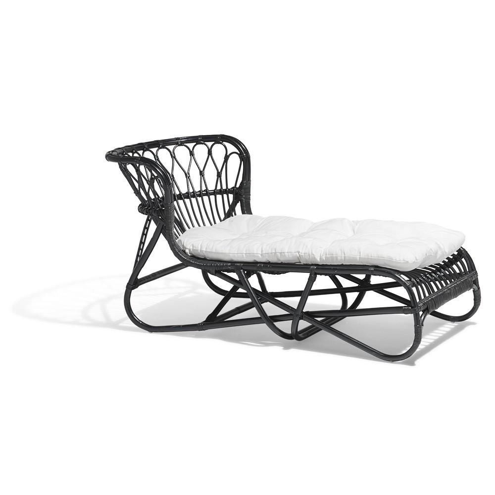Bain De Soleil Sumba Noir Et Blanc tout Gifi Transat Jardin