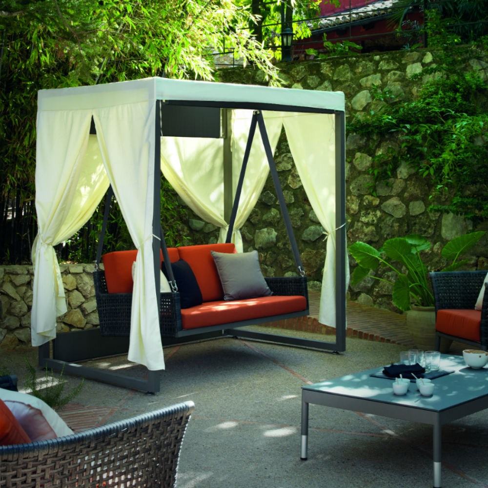 Balancelle 2 Places De Jardin En Aluminium tout Balancelle De Jardin 2 Places