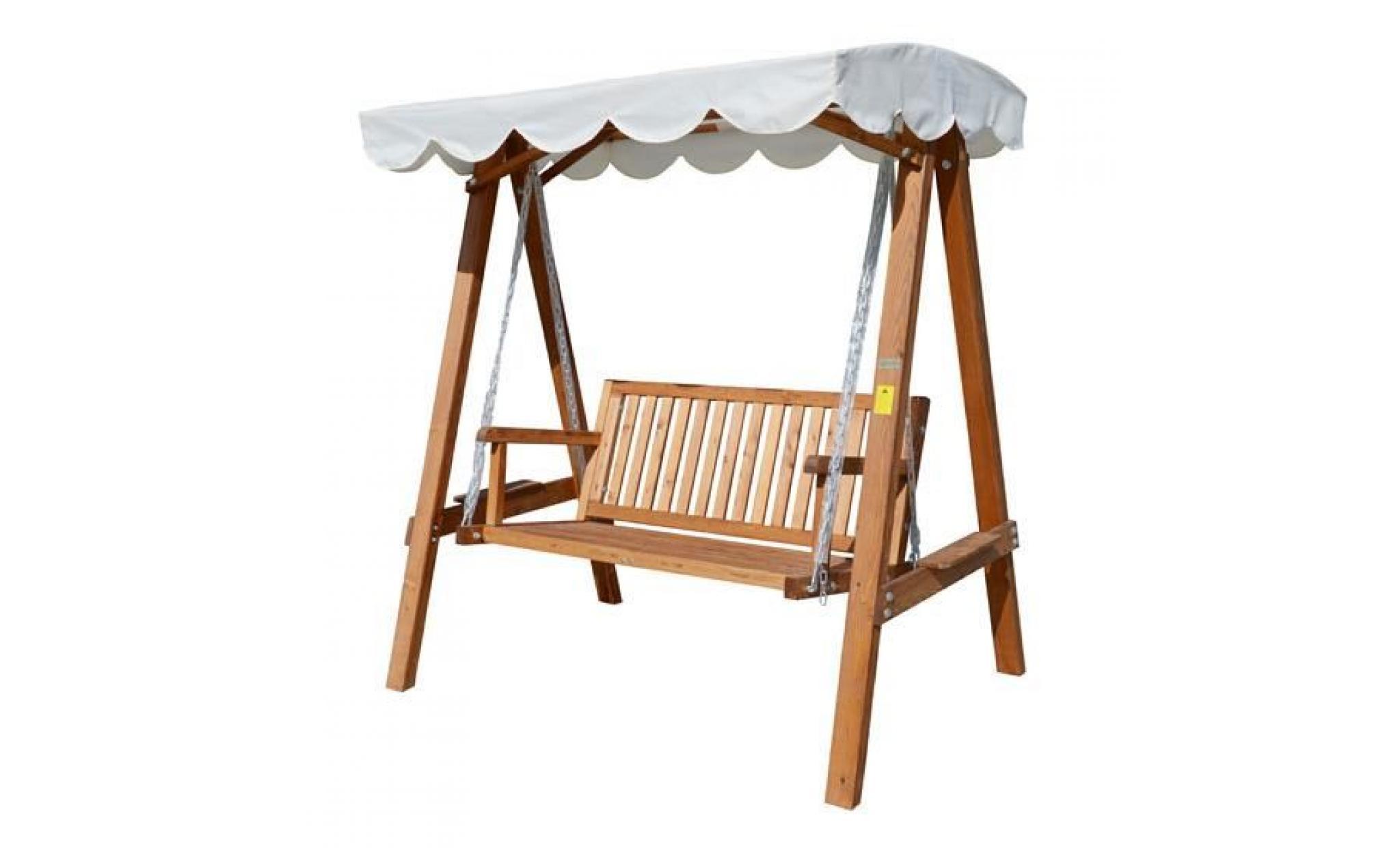 Balancelle Balançoire Hamac Banc Fauteuil De Jardin En Bois De Pin 3 Places  Charge Max. 360Kg encequiconcerne Balancelle De Jardin En Bois