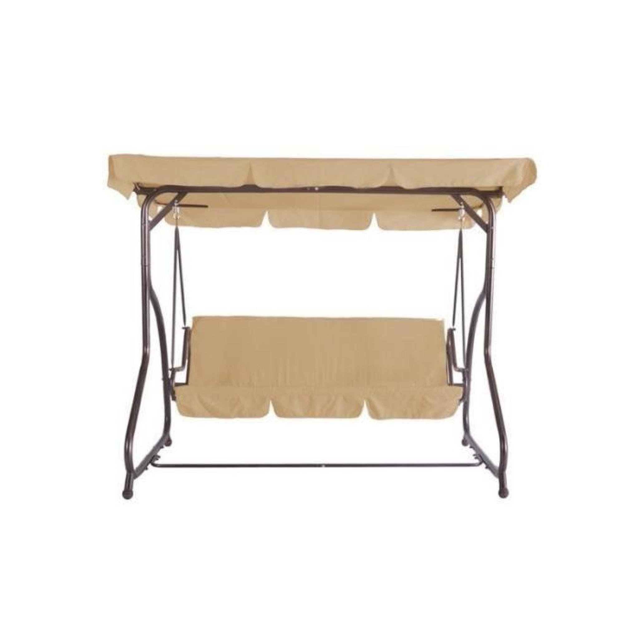 Balancelle Couverte Luxe Canapé Meuble De Jardin Beige 2201020 dedans Balancelle De Jardin Pas Cher