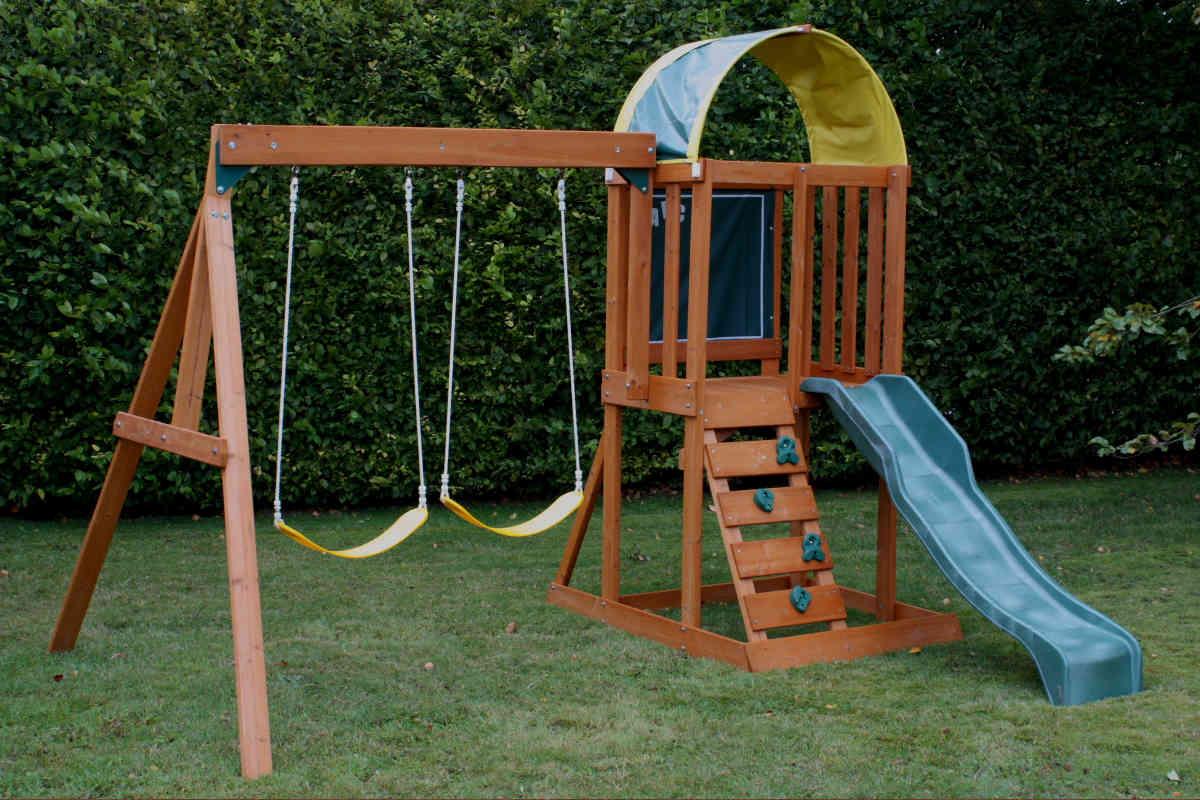 Balançoires De Jardin En Bois Et Métal, Enfants Et Adultes ... encequiconcerne Balancoire Pour Petit Jardin