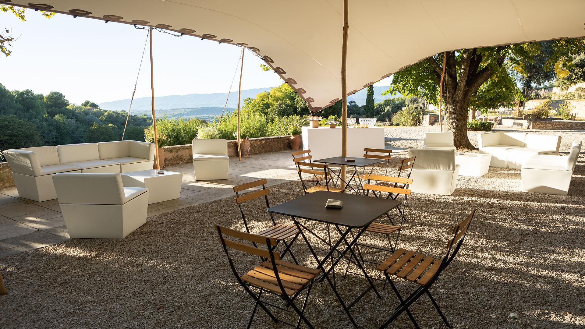 Bambou Tente Brasserie-Salon De Chapiteau-Salon De Jardin ... dedans Salon De Jardin Bambou