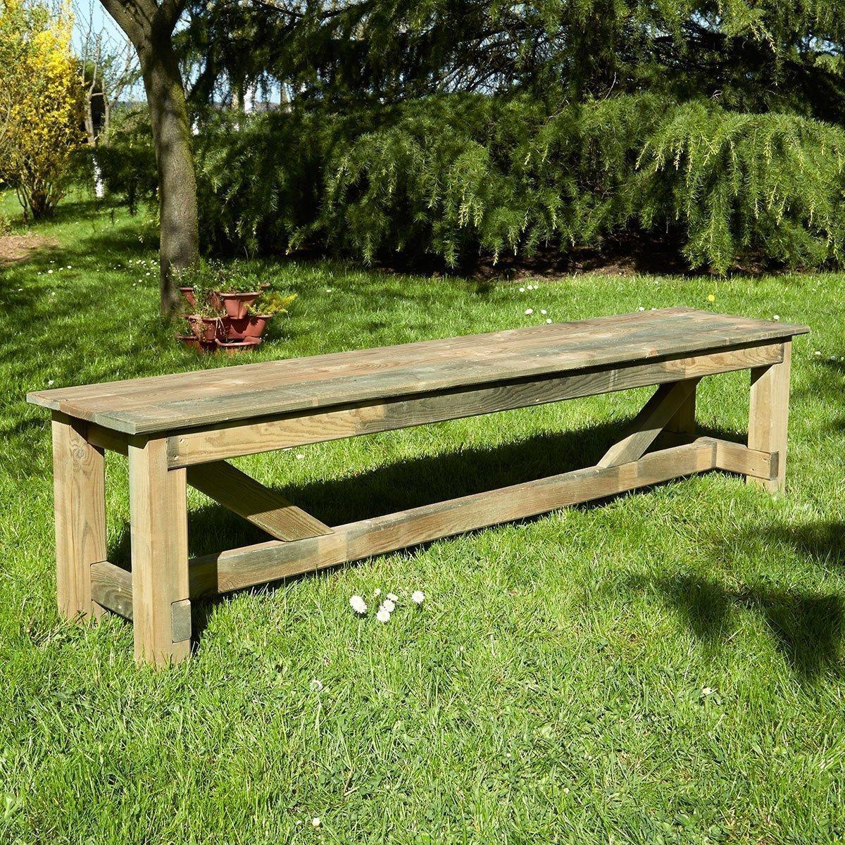 Banc De Jardin 4 Places En Bois Normand - Achat/vente De ... encequiconcerne Petit Banc De Jardin Pas Cher