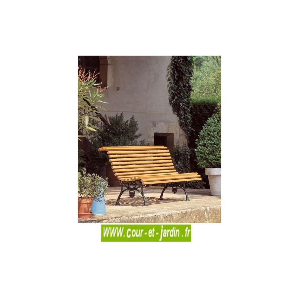 Banc De Jardin Fonte : Vigne - Banc Ancien En Fonte Et Bois ... dedans Salon De Jardin En Fonte Ancien