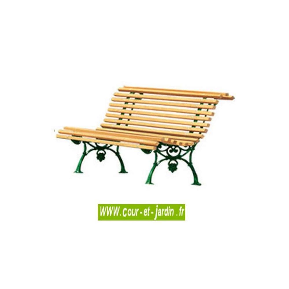 Banc De Jardin Fonte : Vigne - Banc Ancien En Fonte Et Bois ... pour Banc De Jardin Fer Forgé Et Bois