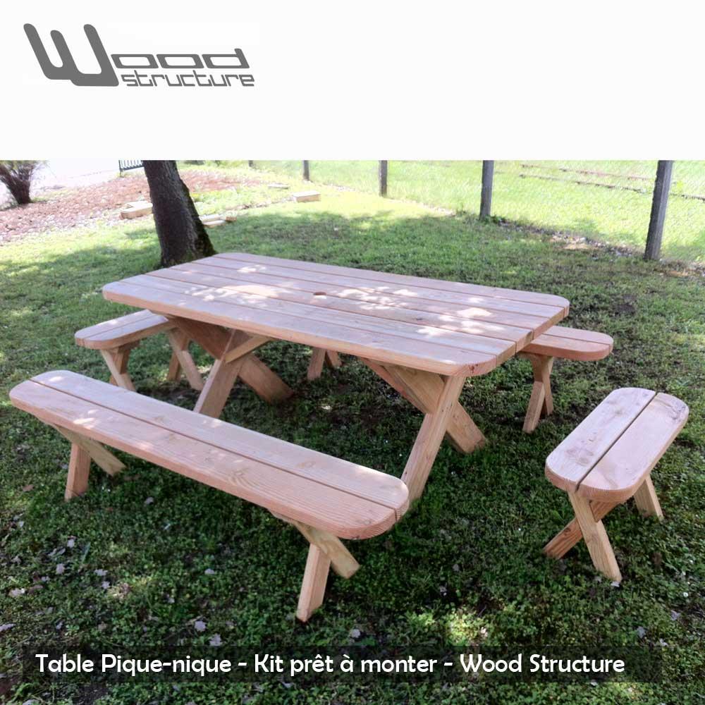 Banc De Table Douglas 200 destiné Table De Jardin Pique Nique Bois
