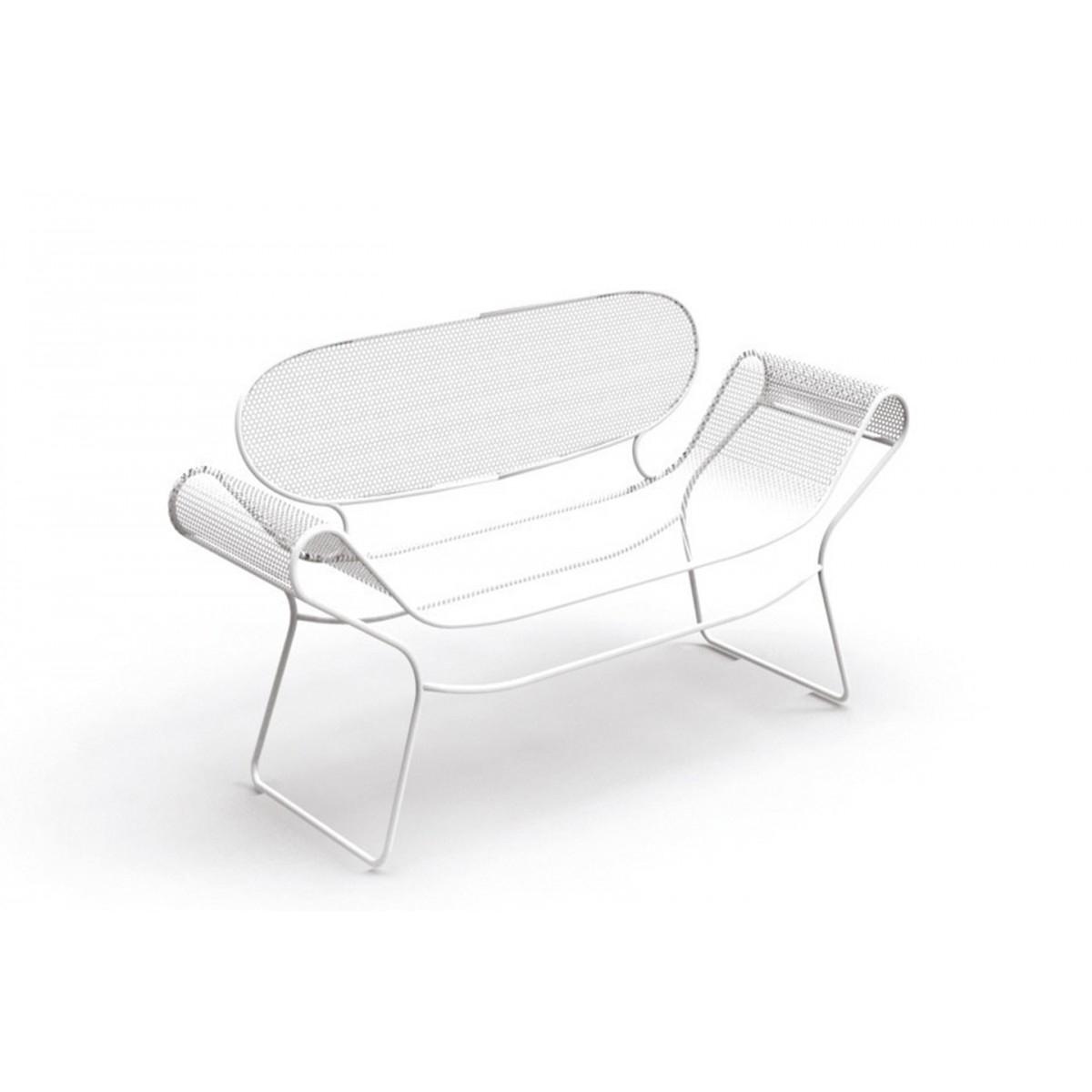 Banc D'extérieur Design Signé Karim Rashid Pour Talenti pour Banc De Jardin En Resine Blanc