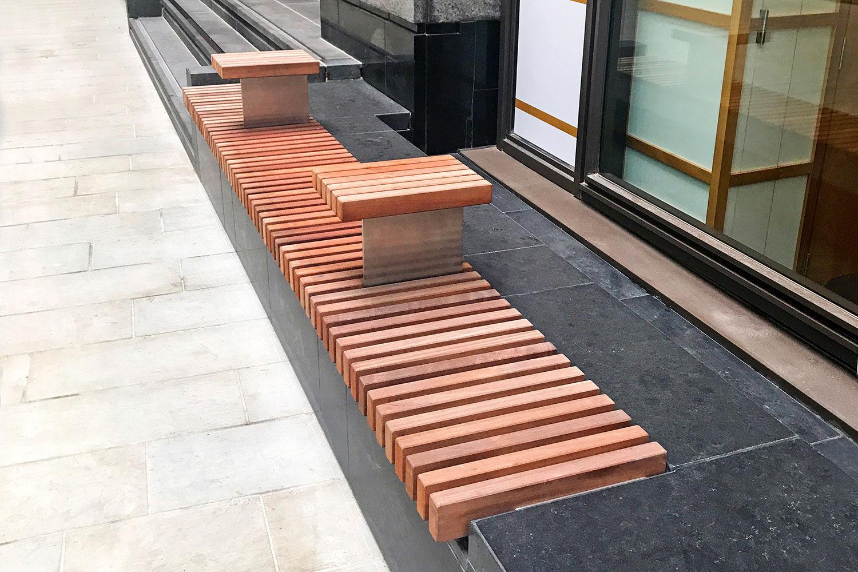 Banc Public / Contemporain / En Bois - Factory Street Furniture à Table De Jardin En Bois Avec Banc Integre