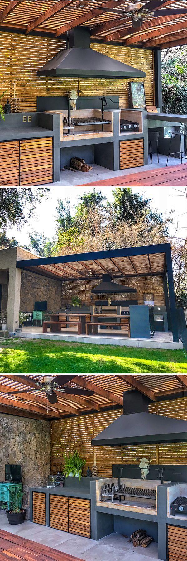 Barbecue Cellulaire En Béton Avec Portes En Bois De Pin D ... à Abri De Jardin En Beton Cellulaire