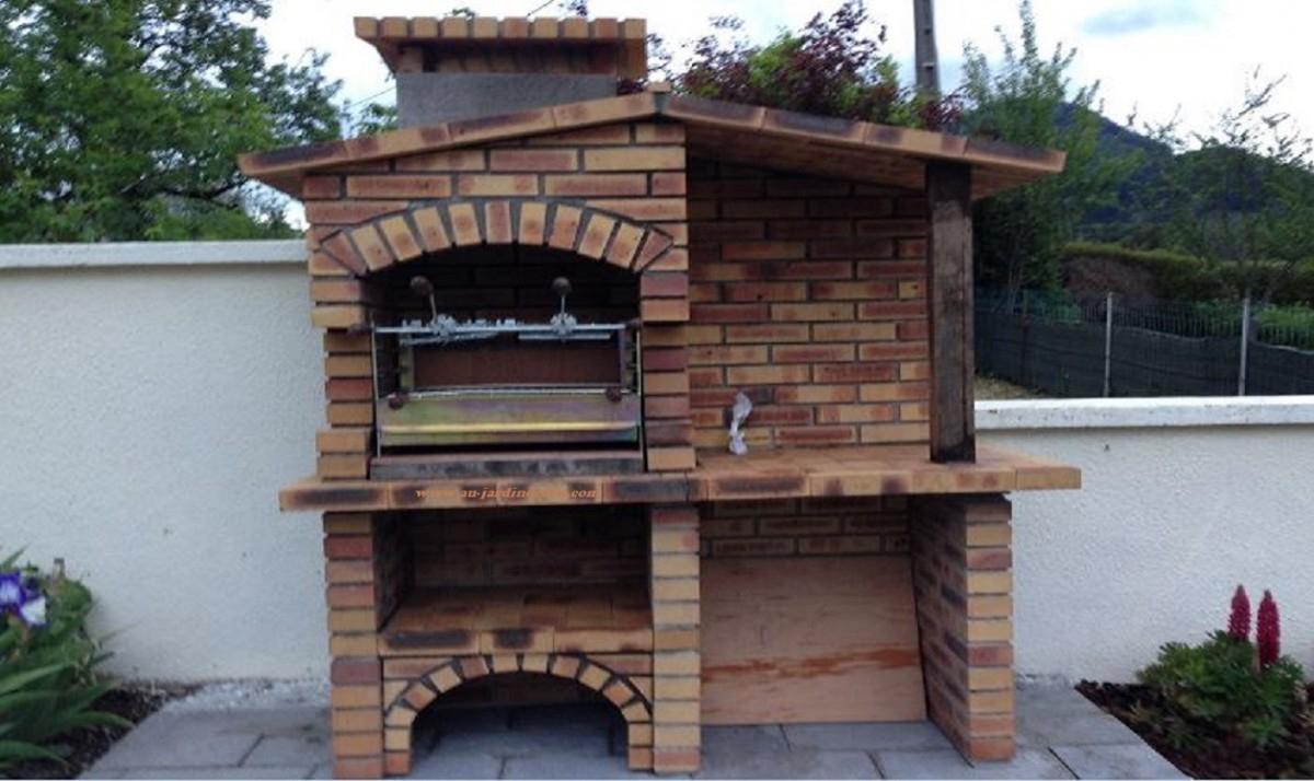 Barbecue En Brique Rustique L-J590A tout Barbecue De Jardin En Brique