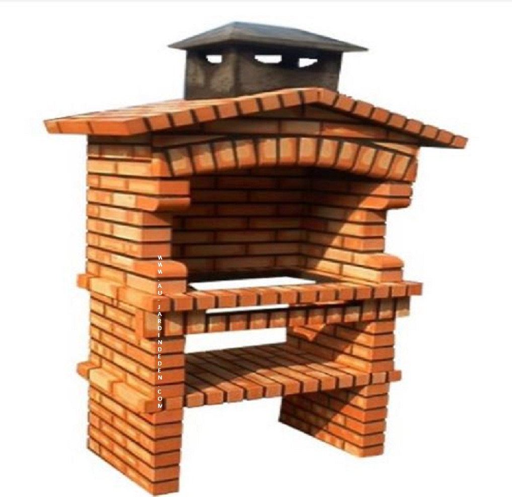 Barbecue Fixe Exterieur En Briques Ff 265-A pour Barbecue De Jardin En Brique