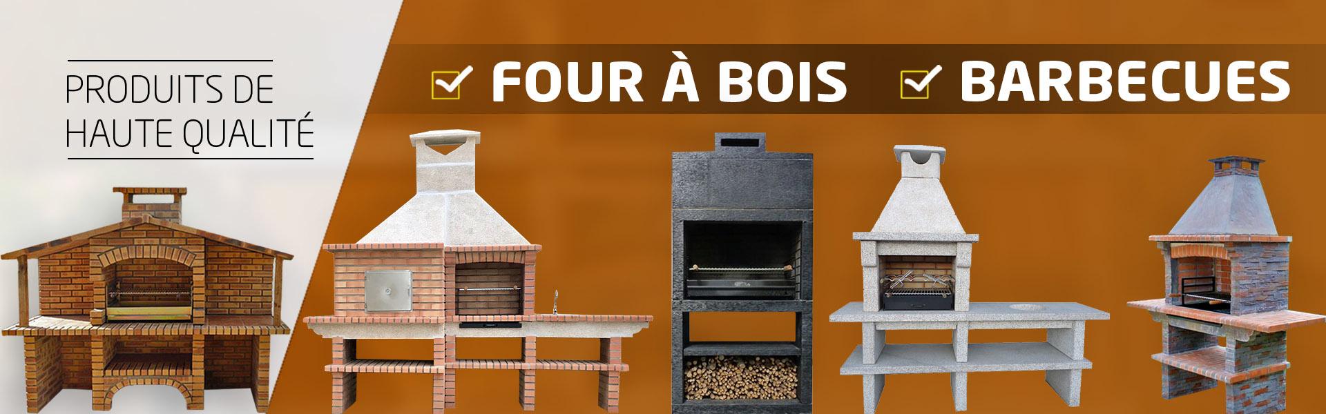 Barbecues En Pierre Et Brique, Four A Bois A Pain Et Pizza ... destiné Barbecue De Jardin En Brique