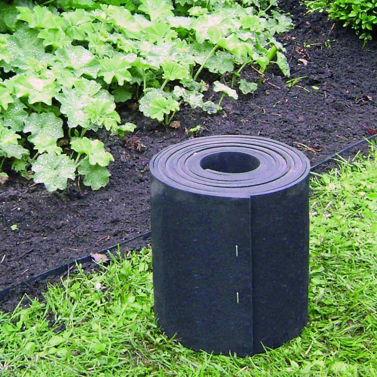 Barriere Anti Envahissantes 5Mx20Cm Caoutchouc Recyclé tout Bordure Caoutchouc Jardin
