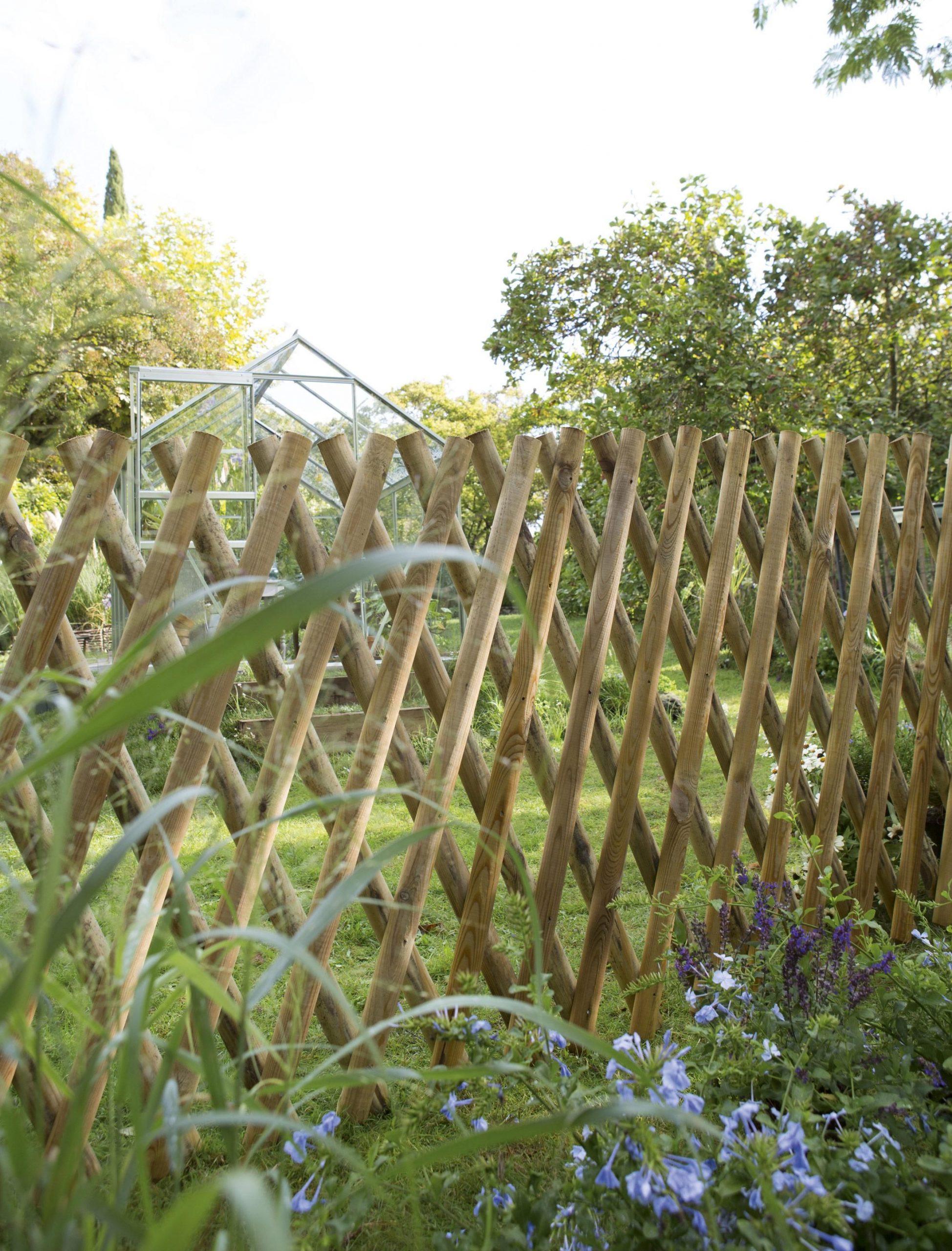 Barrière Bois Primo Naturel, H.100 X L.250 Cm En 2020 ... intérieur Barrière Bois Jardin