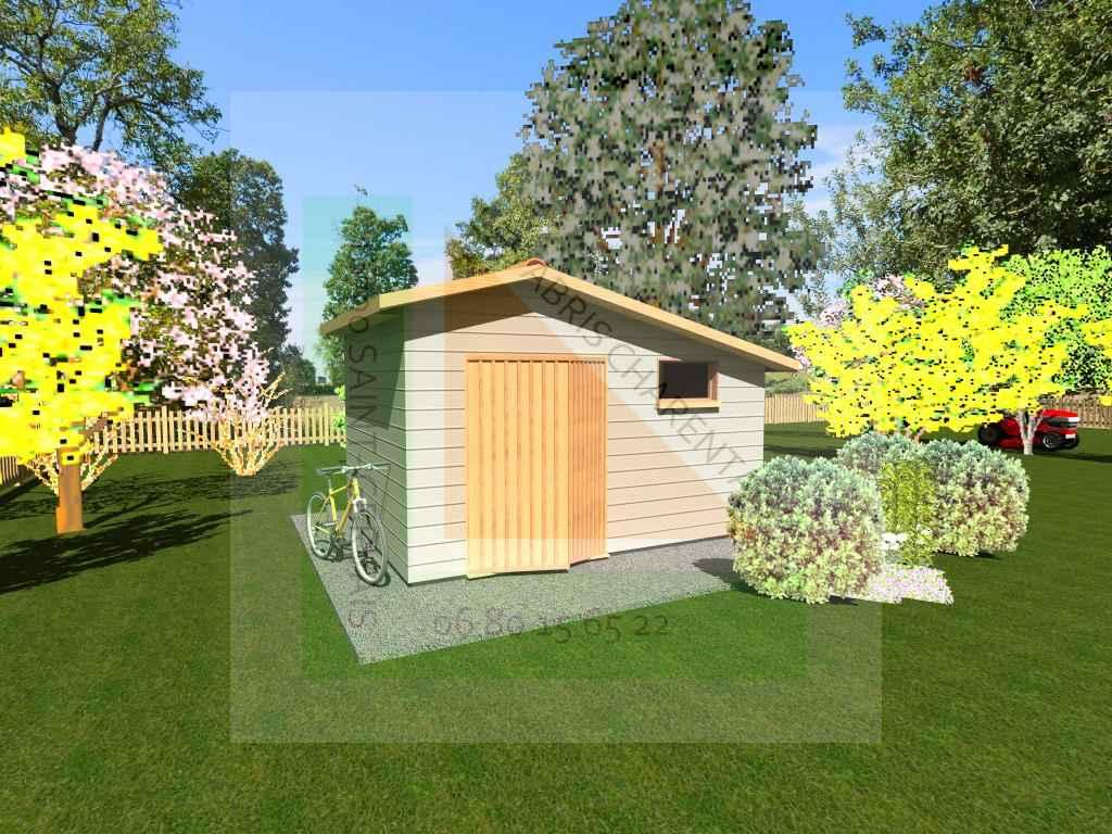 Barro => 12M2 | Charente Maisons Bois tout Abri De Jardin 12M2