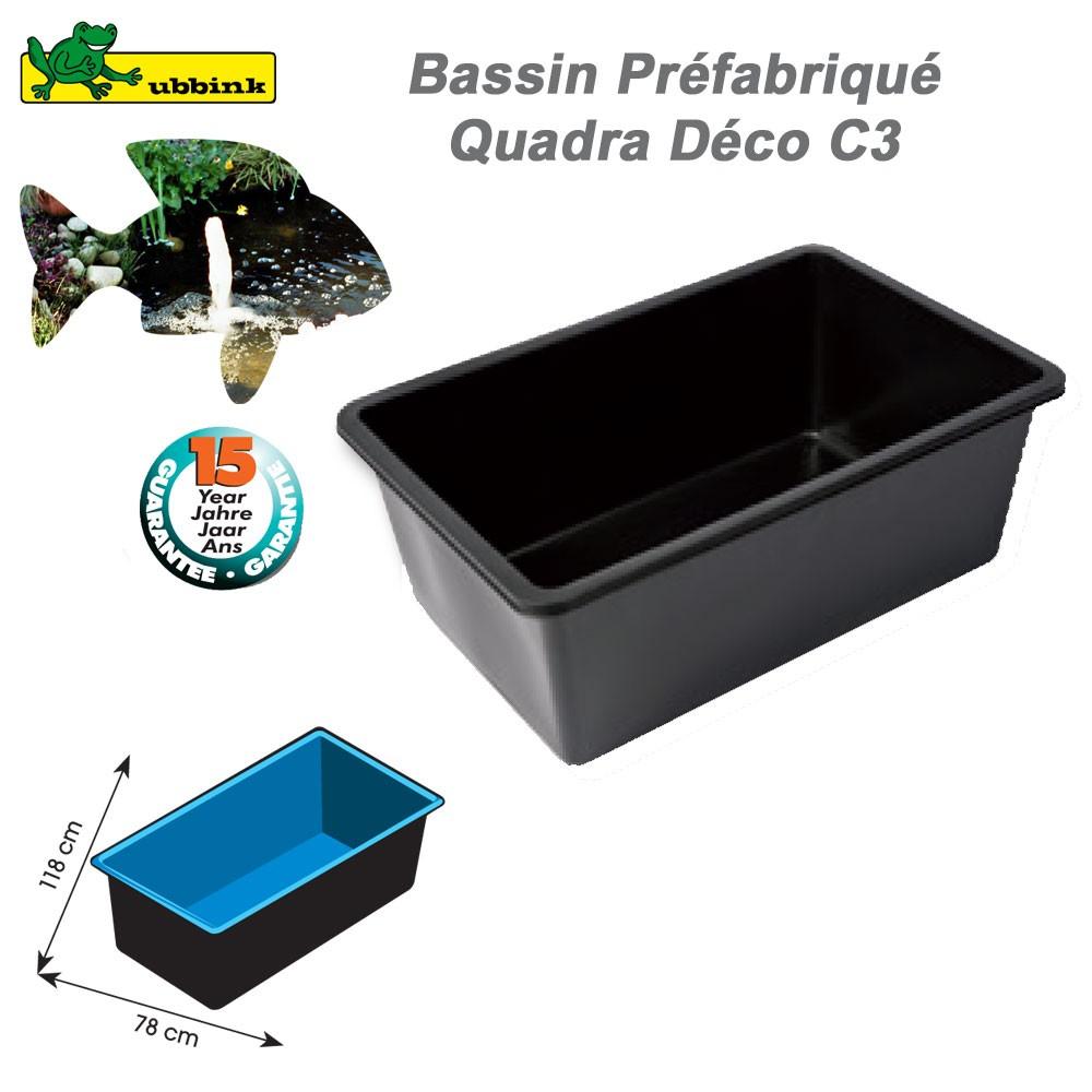 Bassin Préformé De Jardin Quadra Déco C3 dedans Bassin De Jardin Préformé