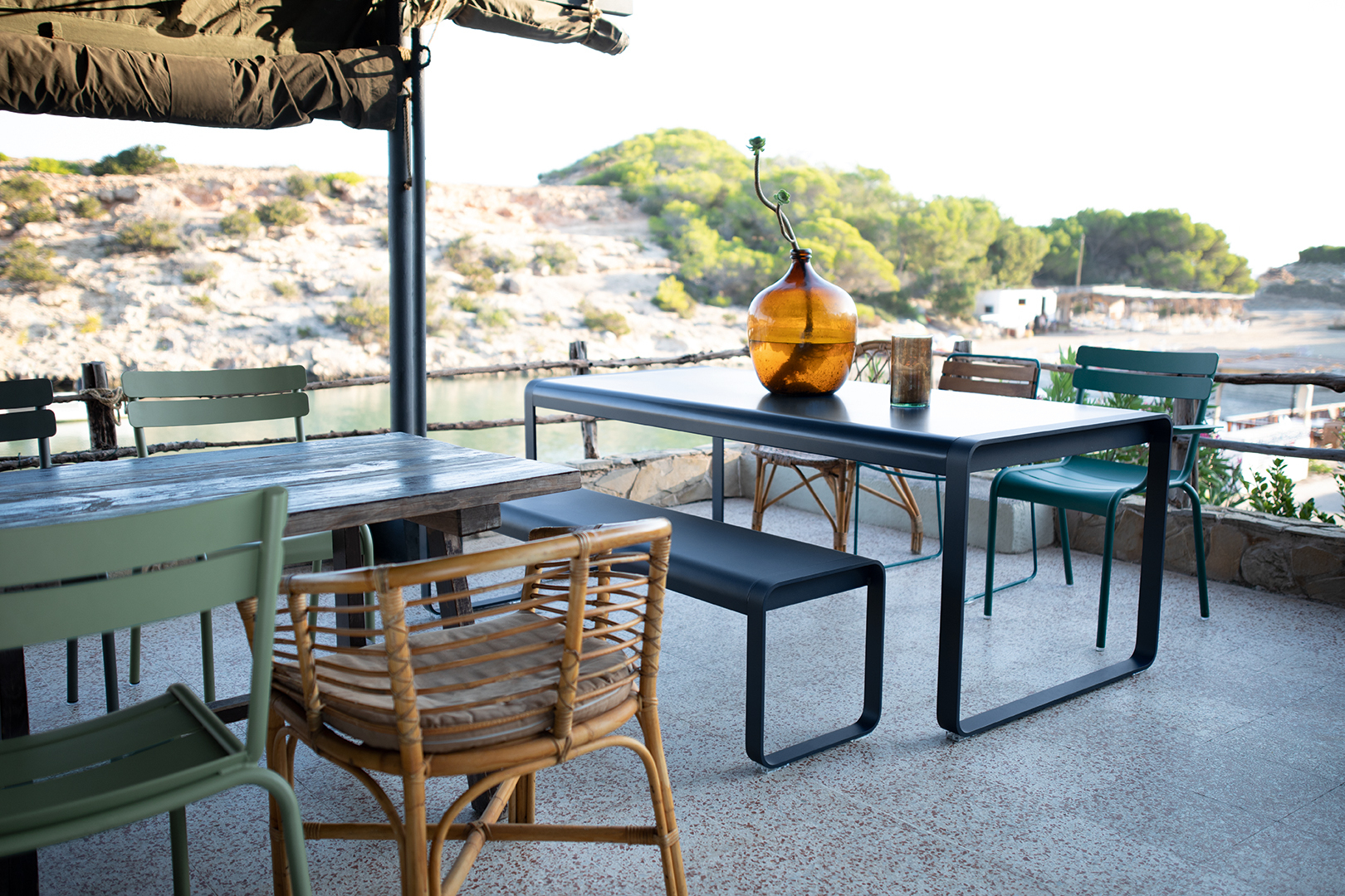Bellevie Table, Metal Garden Table For 8 - Fermob dedans Fermob Jardin Du Luxembourg