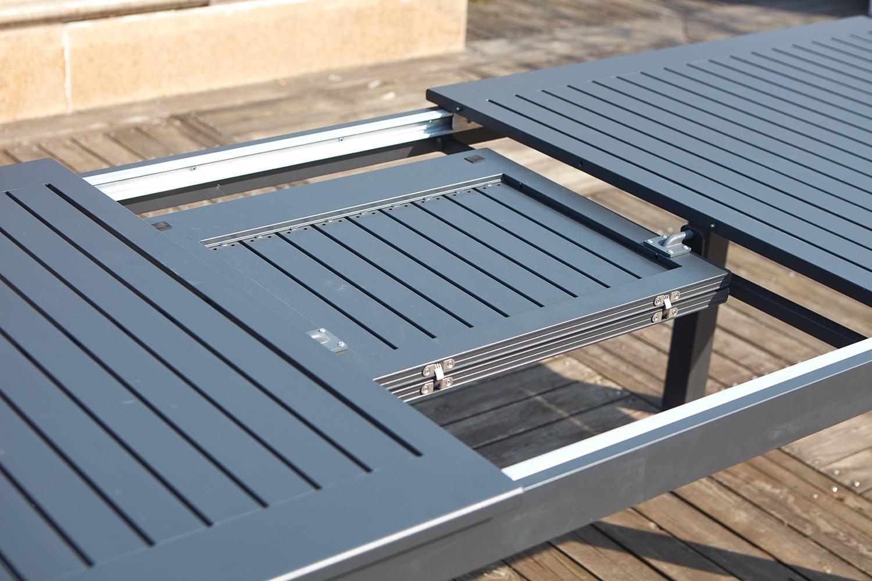Berana 8 intérieur Table De Jardin En Aluminium Avec Rallonge