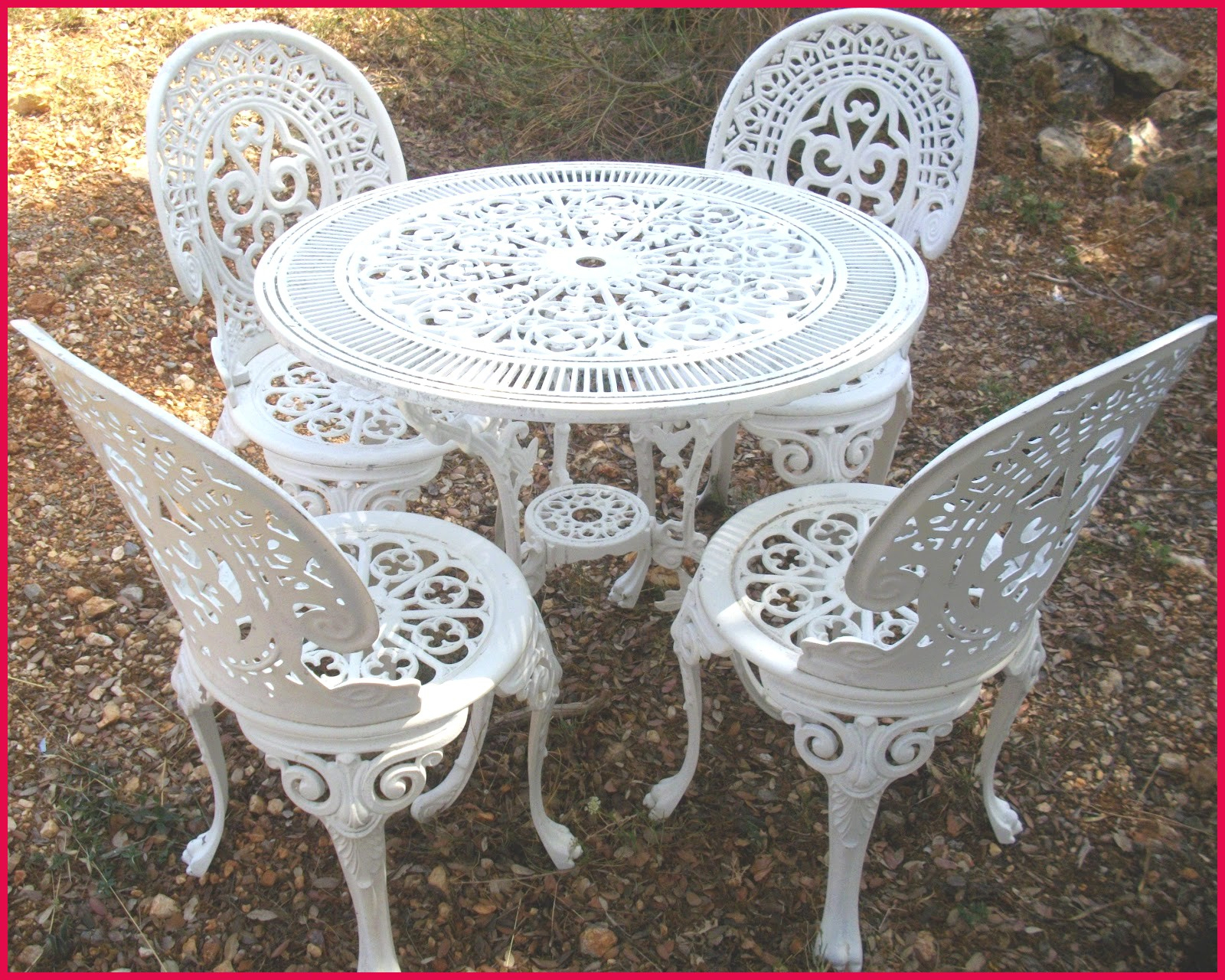 Best Table De Jardin Annne En Fer Forge Avec Marquise Forgé ... concernant Serre De Jardin Occasion Le Bon Coin
