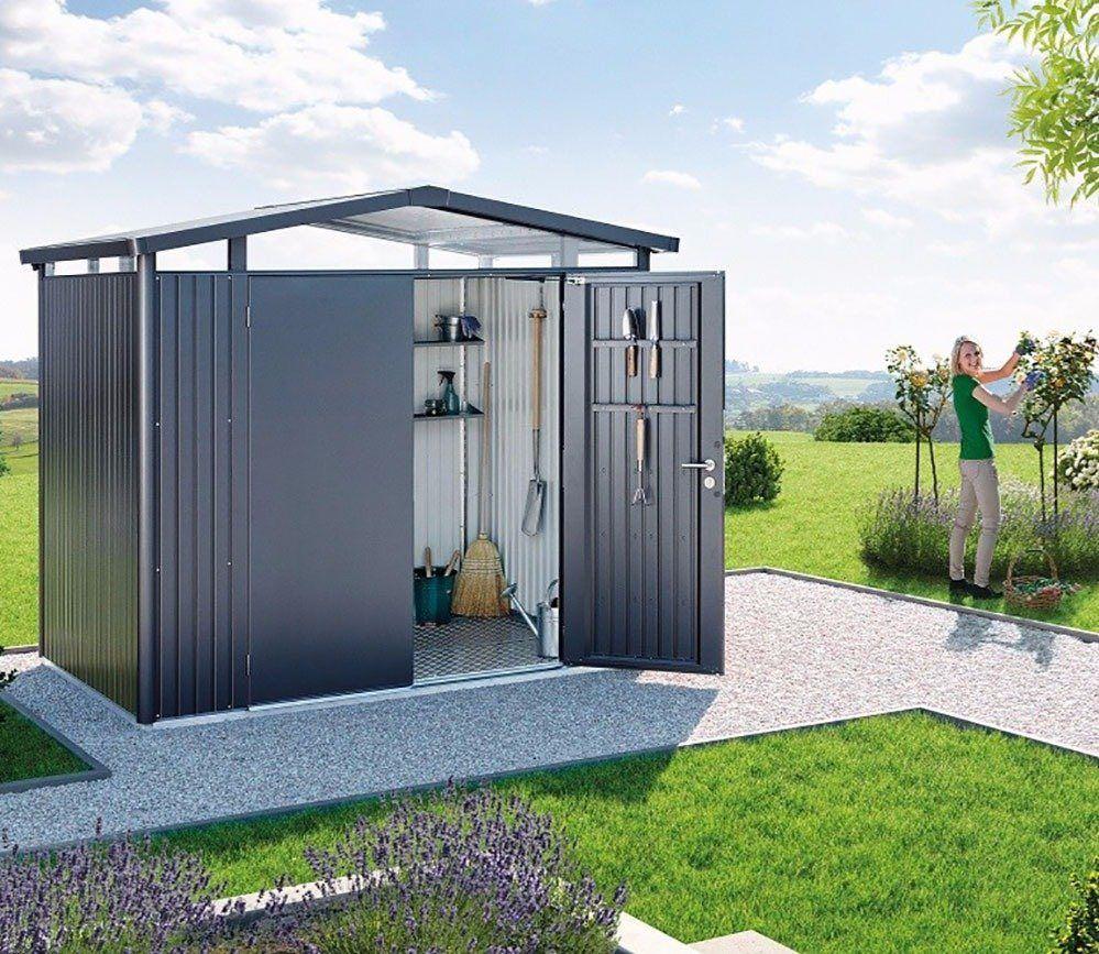 Biohort Panorama P2 Metal Shed 9 X 6 Ft With Double Doors ... pour Abri De Jardin Metal Carrefour