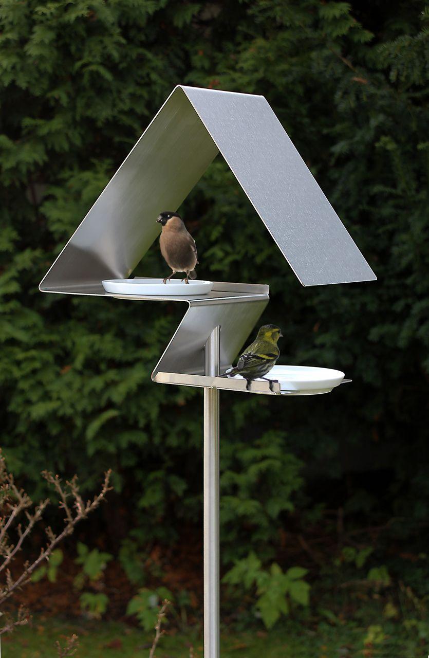 Birdhouses And Bird Baths From Opossum Design | Idées ... serapportantà Baignoire Oiseaux Jardin
