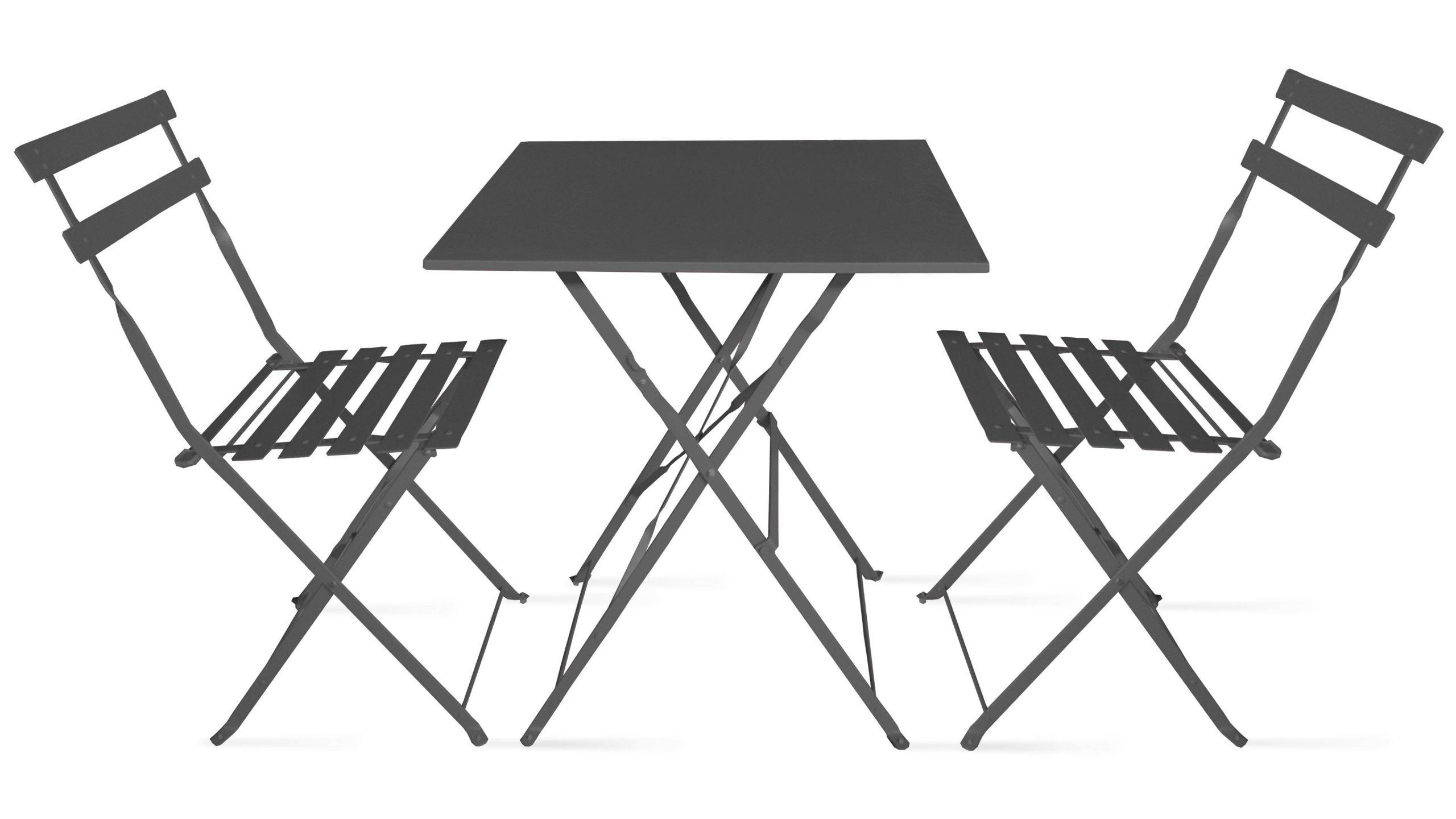Bistrot 2 Pliantes Intermarché De Chaises Table Et Jardin ... à Intermarché Table De Jardin