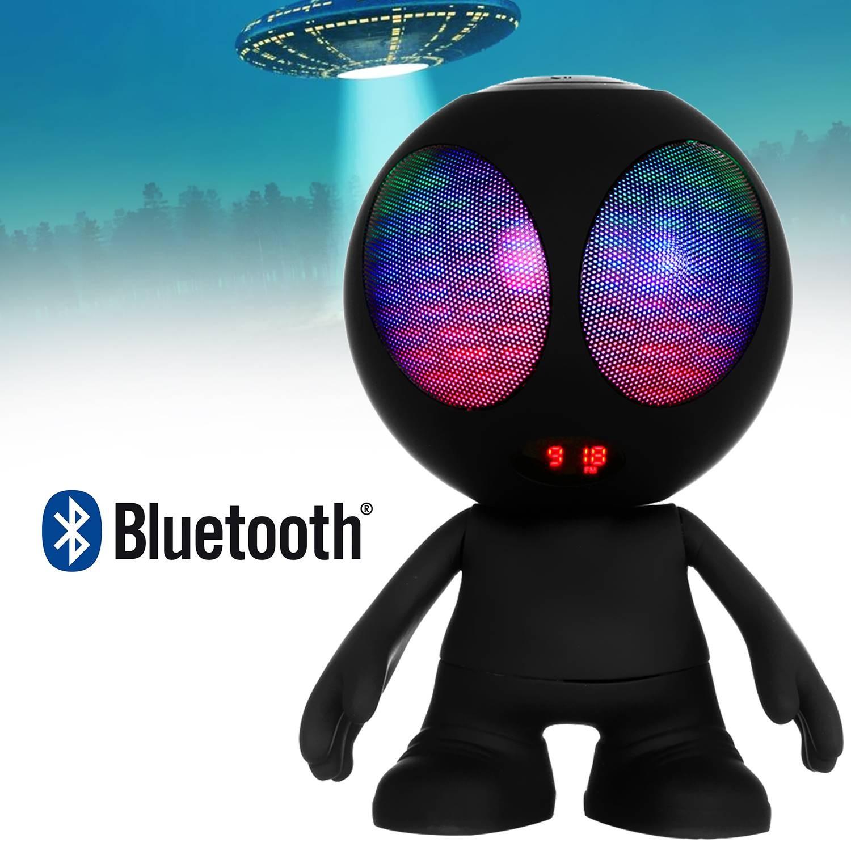 Black Speaker Bluetooth Nomadic Alien To Light Leds - Wiki Ltc Audio concernant Sphere Lumineuse Jardin