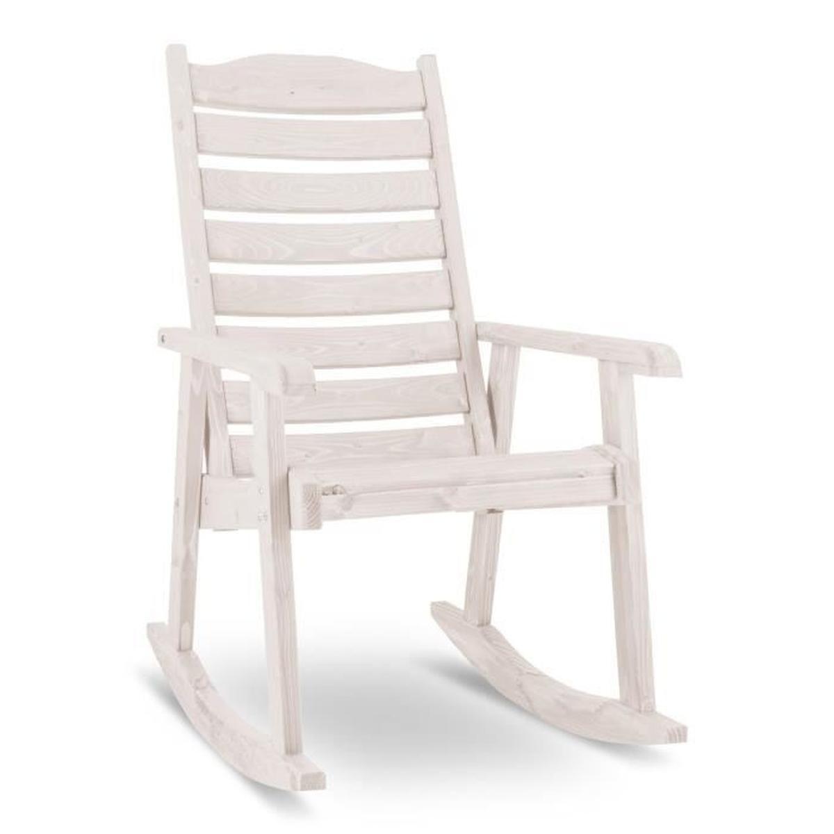 Blumfeldt Alabama - Chaise À Bascule Pour Jardin - Rocking ... à Fauteuil De Jardin En Bois Style Americain
