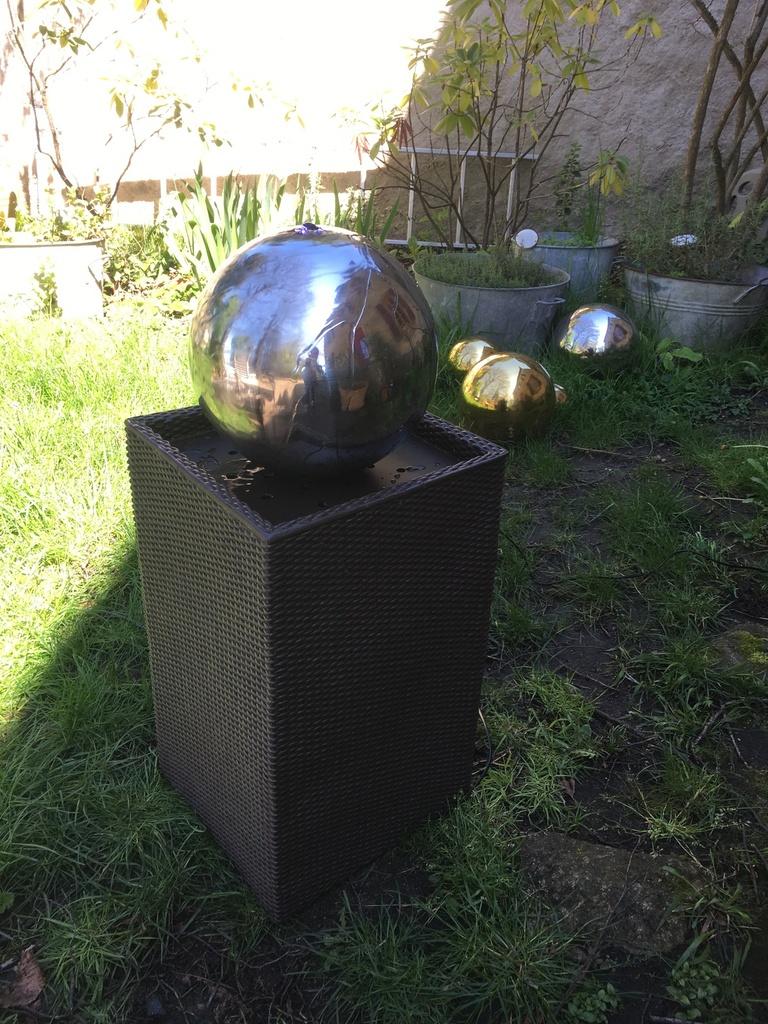 Blumfeldt Durance Fontaine Décorative De Jardin Led ... avec Boule Décorative Jardin