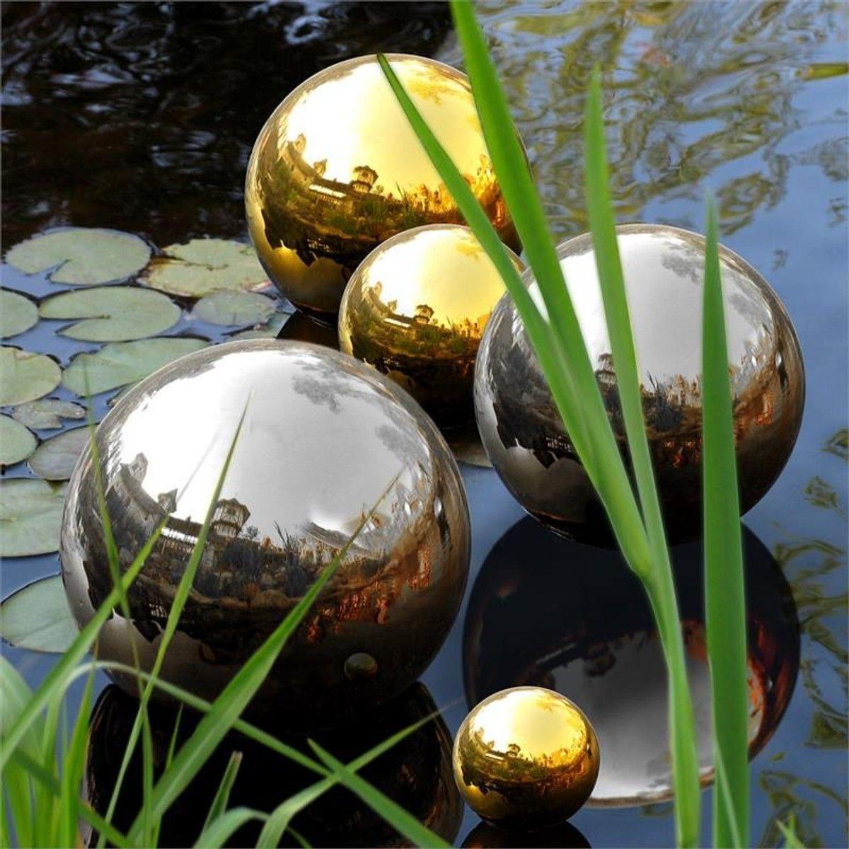 Blumfeldt Silver Globe Inox Boule De Jardin Décorative V2A ... avec Boule Décorative Jardin