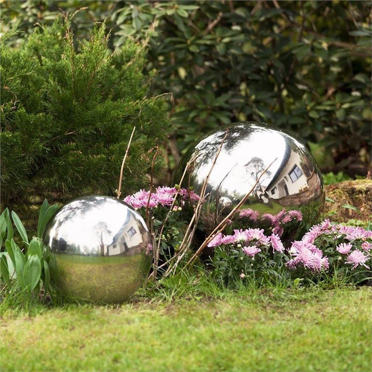 Blumfeldt Silver Globe Inox Boule De Jardin Décorative V2A ... pour Boule Décorative Jardin