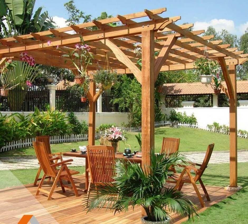 Bois De Terrasse Pas Cher Schème - Idees Conception Jardin tout Tonnelle De Jardin En Bois
