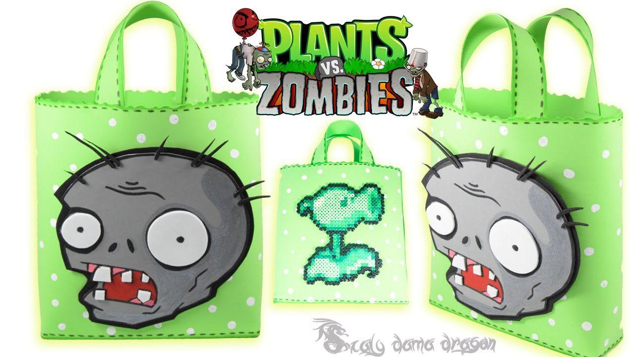Bolsita O Dulcero De Plantas Vs Zombie En Foamy O Goma Eva ... destiné Zombie De Jardin