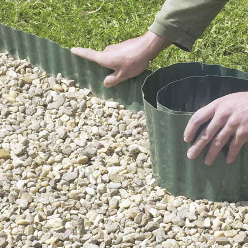 Bordure À Dérouler Plastique Vert, H.30 X L.900 Cm | Bordure ... avec Bordure De Jardin Plastique Leroy Merlin